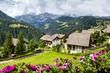 Leinwandbild Motiv alpin village