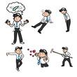 Businessman character icons cartoon