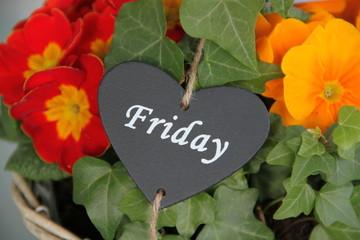 Einen schönen Freitag wünschen