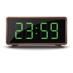 Retro green digital clock