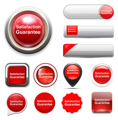 Customer satisfaction guaranteed button