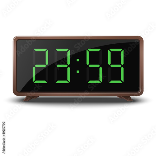 Retro green digital clock