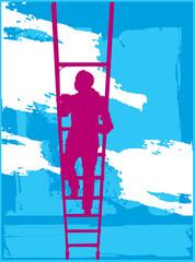 woman ladder