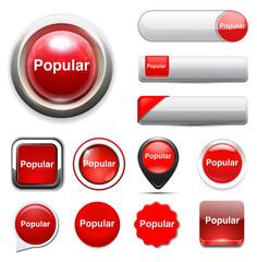 popular  word button