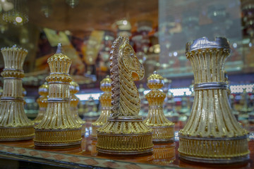 Gold Encrusted Chess Pieces