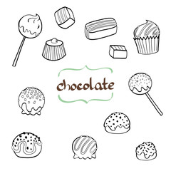 Doodle chocolate candys.