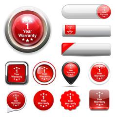 1 year warranty button