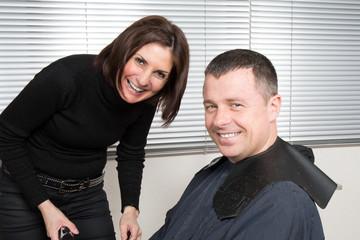 Man at the Hair salon situation - hair dresser salon