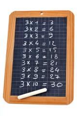Table de multiplication de trois
