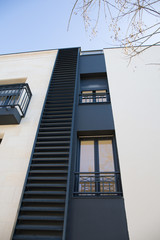 Side view of a New modern apartments