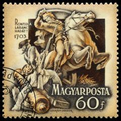 Stamp printed in Hungary shows Rakoczi Independence