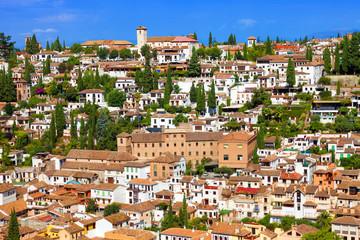 The Albaicin neighborhood seen from the Alhambra de Granada
