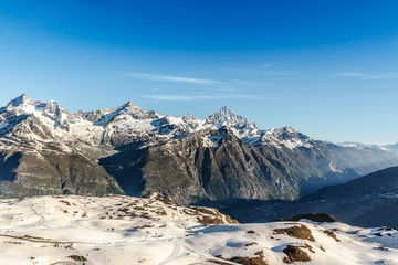 Mountain Range Landscape at Alps Region, Zermatt, Switzerland