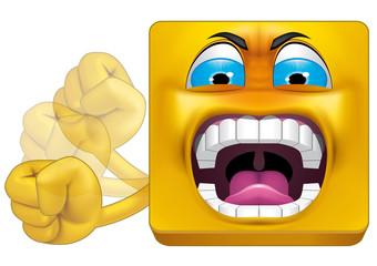 Square emoticon huff
