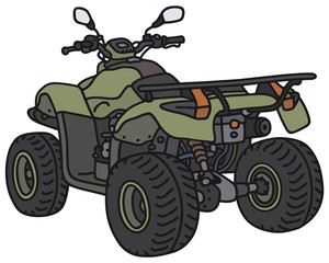Green all terrain vehicle - not a real model