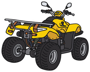 Yellow all terrain vehicle - not a real model