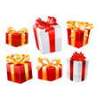 Gifts set. Vector