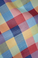 A background or texture of colorful fabric