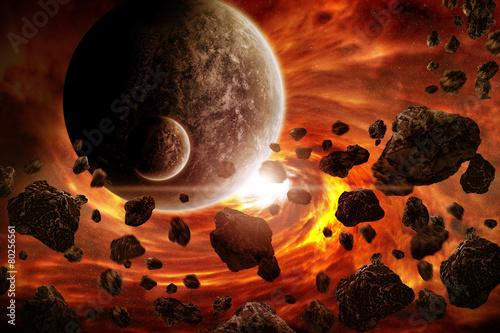 Zdjęcia na płótnie, fototapety na wymiar, obrazy na ścianę : Planet explosion apocalypse