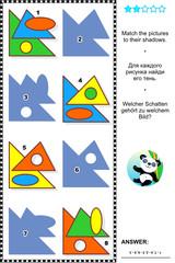 Basic shapes learning math visual puzzle