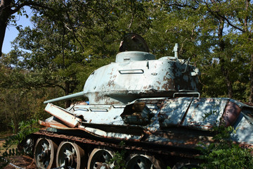 Old military tank