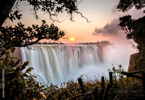 Foto op Canvas Watervallen Victoria Falls