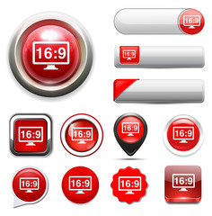 16 9 display button