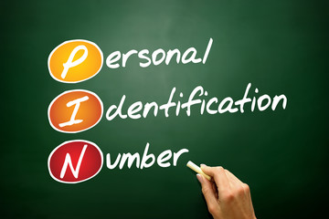 Personal Identification Number (PIN) acronym on blackboard