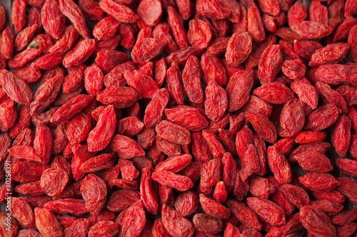 Leinwanddruck Bild Dried Goji Berries