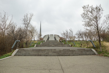 the Memorial to the victims of the Armenian Genocide