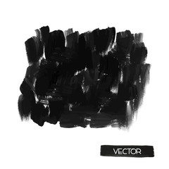 Black brush smears. Abstract stylish watercolor background.