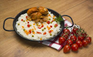 Almuerzo a base de arroz