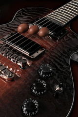 Chocolates on the guitar