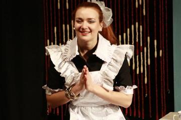 Russian theater, school play, schoolgirl 5