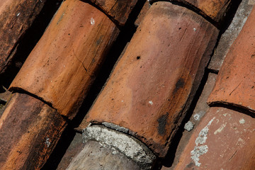old roof tiles as a background