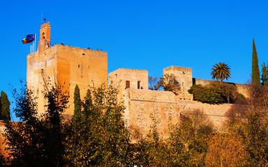 main building of  Alhambra.  Granada