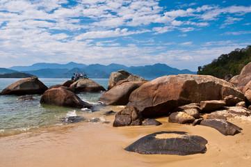 Coast of Ilha Grande Island, Rio de Janeiro State