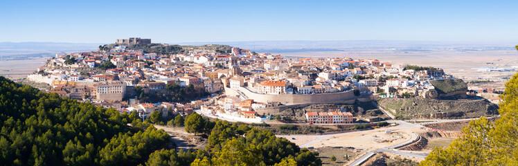 Panoramic view of  Chinchilla de Monte-Aragon