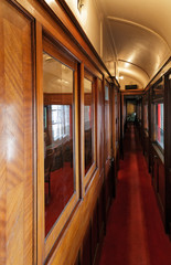 interior of the old car