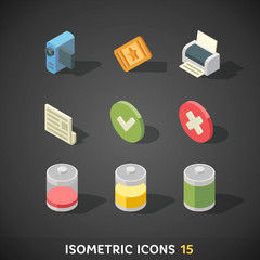 Flat Isometric Icons Set 15