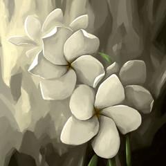 painting still life flower white