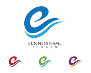 E wave Logo