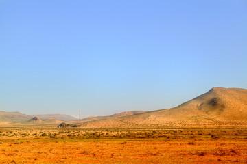 Malerische Landschaft in der Wüste von Marokko