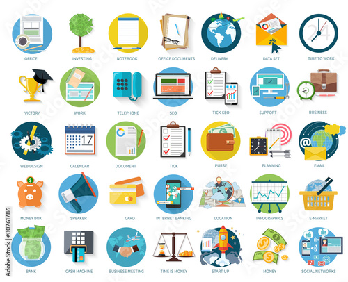 Set of business icons - 80261786