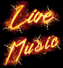 Fire Text Live Music