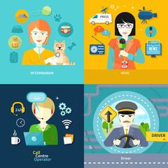 Veterinarian, news, driver and operator