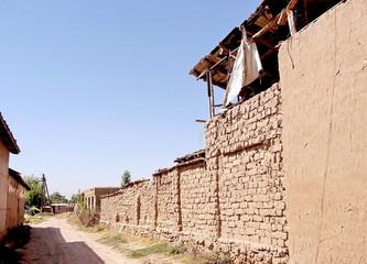 Uzbekistan Mayskiy Adobe house in village 2007