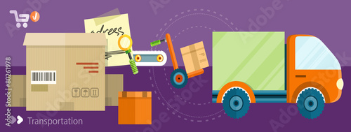 Delivery shipping concept - 80261978