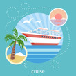 Cruise ship and clear blue water. Water tourism. - 80262158