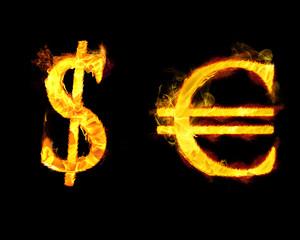 Euro Dollar Signs